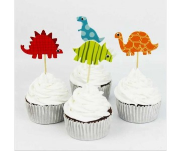 Toppers dinosaures x4