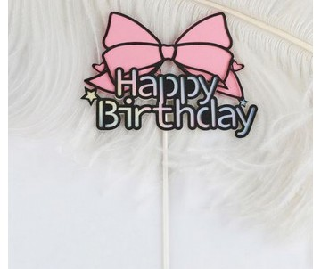 """Toppers """"Noeud Happy Birthday"""""""